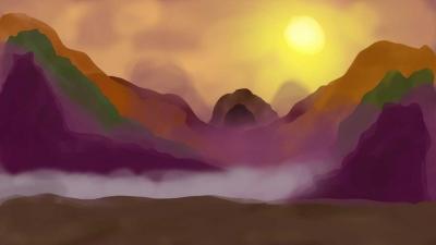 artwork of a cave